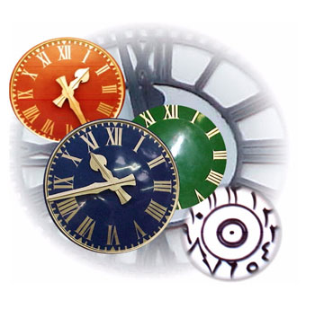 Clock Dials & Hands from Gillett & Johnston