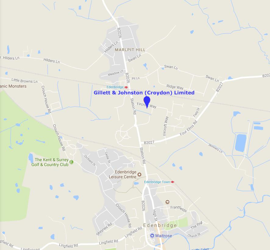 Gillett & Johnston Location Map