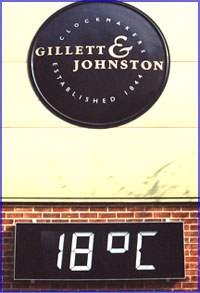 Digital Clocks from Gillett & Johnston