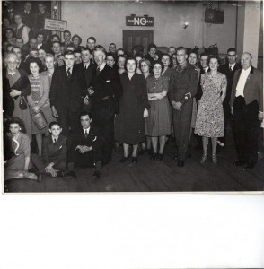 Gillett employees at the Grandison Ballroom in Norbury dated 20th January 1948.